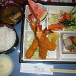 サンシャガール - サービスエビフライ定食 1150円
