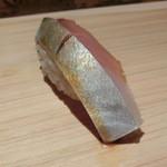 鮨 行天 - 松輪の真鯖 松輪も1k越えになり脂がのってきました