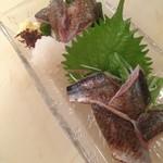 萬 燕楽 - 旬・秋刀魚炙りポンズ