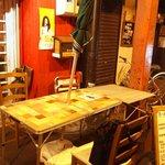 士別バーベキュー - 屋外のテーブル席