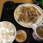 醤醤 - 肉炒め定食定食 600円☆(第二回投稿分④)