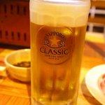 士別バーベキュー - 生ビール、今度は上手♪
