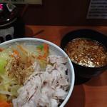 30674427 - 野菜がたっぷりの日曜日限定の味噌つけ麺