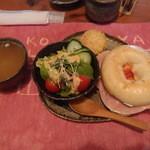 壺小屋 - ハムとクリームチーズのベーグルサンド
