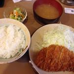 とんかつ 豚豚 - ロースカツ定食@1150円