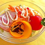 30676162 - 季節のプレート(1,620円:税込)の大沼野菜のサラダ、近影。