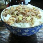豚骨醤油 蕾 - 豚飯200円