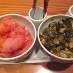 30680258 - 明太子と高菜、ご飯は食べ放題