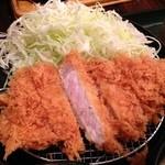 とんかつ こころ - もち豚上ロースカツ定食¥1000@天王町 とんかつ こころ