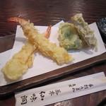 蕎亭 仙味洞 - 「天ぷら盛合せ」(小)
