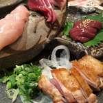 鶏家 六角鶏 - 鶏のお造り盛り合わせ
