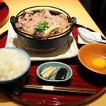 中の茶屋 重籠 - 料理写真:すき焼き定食