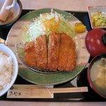 3069790 - 「特選ロースかつ定食 中(\1350)」。