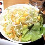 まいしょく家 - 定食のサラダ