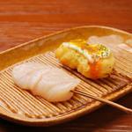 串ゆう - 貝柱ウニソース和え(1本)220円