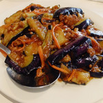 長福 - 茄子と挽き肉の辛子炒め