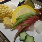 異彩 - 産直有機野菜盛り合わせ