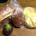 ベルグ - ハード食パン&焼きカレーパン&メロンパン