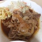 松林堂 - 焼肉は豚小間肉のしょうが焼きだ