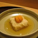 日本料理 太月 - 26年8月 胡麻豆腐、葛餡、生雲丹(相方)