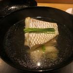 日本料理 太月 - 26年8月 明石鯛潮椀 素麺、芽葱(あちき)
