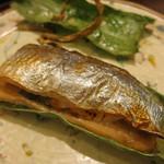 日本料理 太月 - 26年8月 秋刀魚、松茸挟み焼き