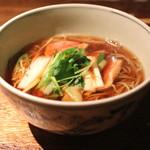 蕎麦懐石 無庵 - 鴨南そば (2014/09)