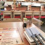 鶏ジロー - カウンター席・テーブル席・4~5人用の小さな小上がりがあります。