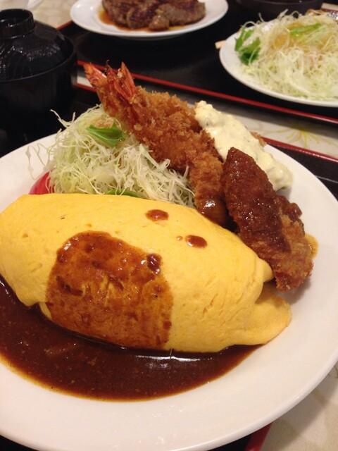 グリル ロン 阪急三番街店 - デミオムエビ+ヘレ