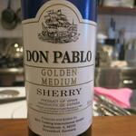 モンプチコションローズ - 26年9月 DON PABLO GOLDEN MEDIUM SHERRY 料理用のシェリー