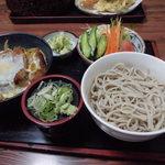 狐狸庵 - カツ丼・そばセット930円