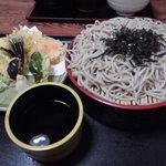 狐狸庵 - 野菜天ざる760円