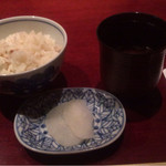 30714344 - 鯛飯、香の物、味噌汁