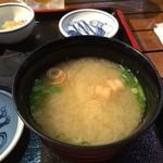 海鮮市場 長崎港 - みそ汁おいしい