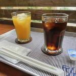 カフェ リン - オレンジジュース アイスコーヒー