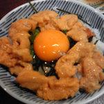さかな処 三吉 - このうに丼が味噌汁、漬物つきで600円?! 2010年1月