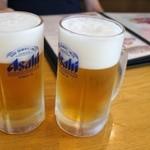鳩家 - 生ビール中630円