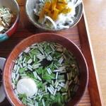 日常茶飯 - 玉ねぎのサラダ&水菜のお吸い物