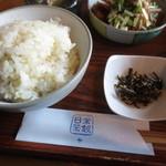 日常茶飯 - 五分づきのご飯&昆布の佃煮