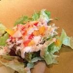 鉄板焼 天 本丸 - 蟹のサラダ