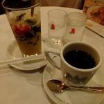 イノダコーヒ 本店 - カフェジュレ&カルアオレ:670円+アラビアの真珠:515円