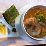 焼あご煮干ラーメン きち - 特濃きち麺 1000円 濃厚なとろみのあるスープが麺とからむ♪