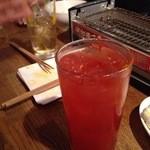 ハモター酒場 - 辛っ!チョリソーと言いつつクラマト割にジョロキアタバスコを5滴、辛っ!