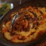 Veggyの家 - 焦がしチーズのごぼうハンバーグドリア