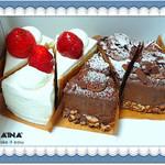 パティスリー カフェアイナ - 生チョコケーキ&イチゴのショートケーキ ¥760→¥540