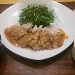 チョップスティック - 蒸し鶏ピリ辛ソース ご飯セット(780円)