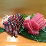 富士鮨 - カツオのタタキと中トロ