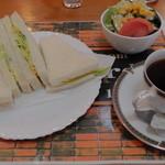 イエスタディ - 料理写真:H26.9.16 エッグサンドイッチセット700円