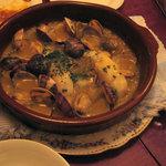 CASA GIRASOL - メルルーサとあさりのグリーンソース煮。絶品!