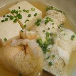 3077796 - 手作り豆冨、もち巾着、水菜のきつね巻き